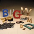 Cast Metal Sign Letters