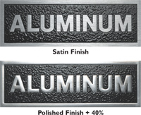 Cast Aluminum Plaques with Satin Finish and Polished Metal Finish
