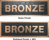 Cast Bronze Plaques with Satin Finish and Polished Metal Finish